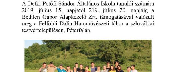 Felföldi Dalia Harcművészeti tábor