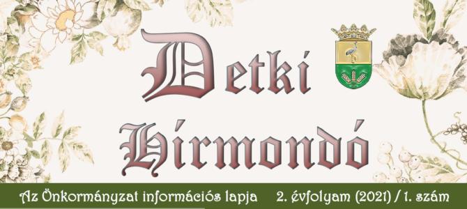 Detki Hírmondó 2. évfolyam (2021) / 1. szám