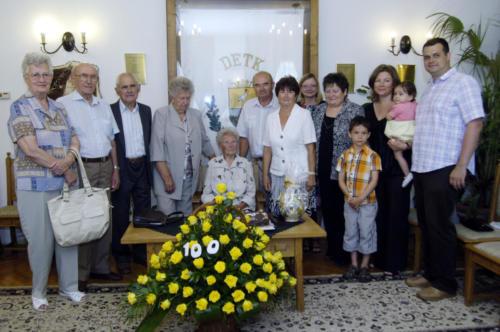 100. születésnapját ünnepelte községünk legidősebb lakója Herbei Béláné